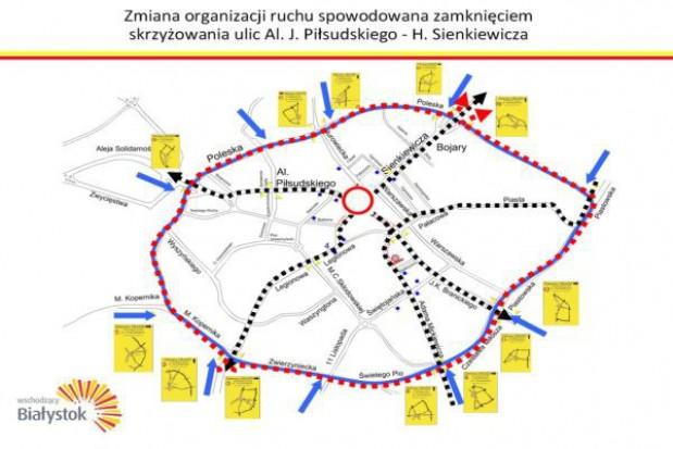 Zmiana organizacji ruchu w centrum Białegostoku