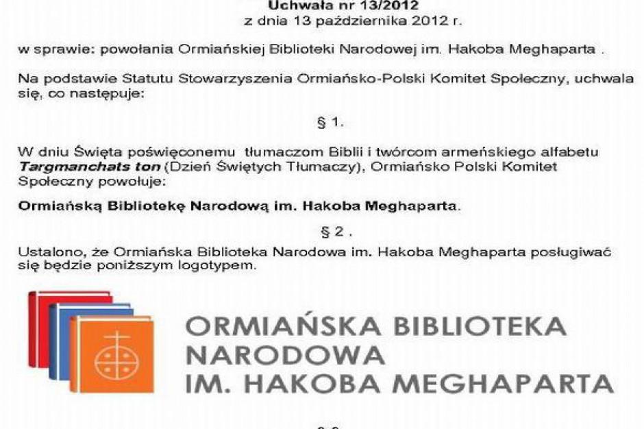 Ormiańska Biblioteka Narodowa powstaje w Zabrzu