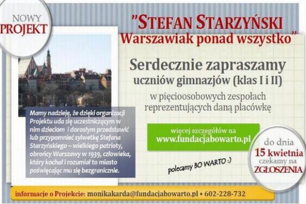 Projekt edukacyjny o Stefanie Starzyńskim