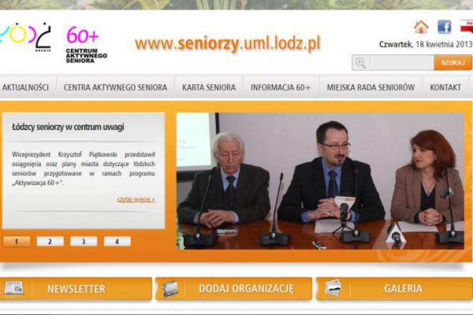 Seniorzy w Łodzi mają swój portal