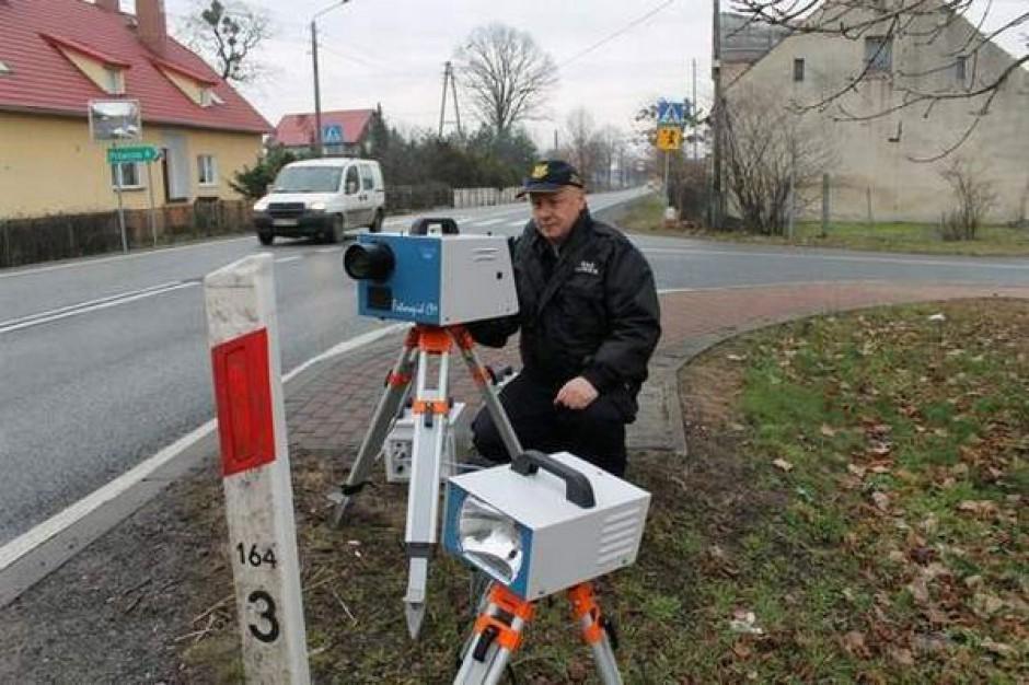 Mobilny fotoradar w Mierzynie