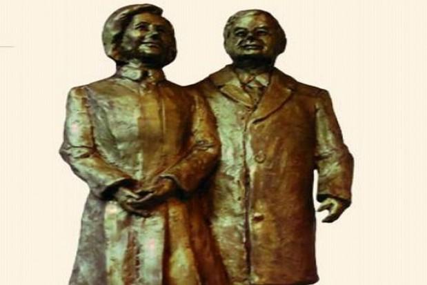 Budowa pomnika Marii i Lecha Kaczyńskich