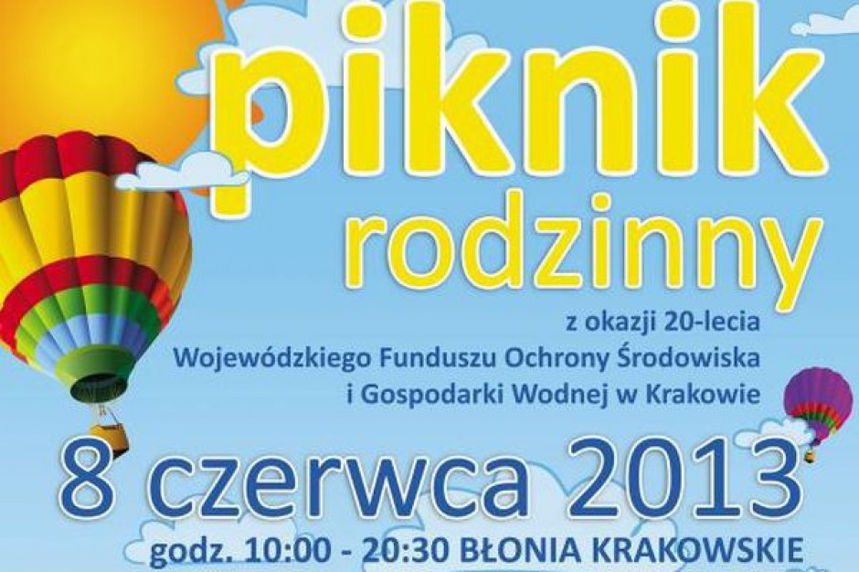 Ekologiczny piknik na jubileusz WFOŚiGW w Krakowie