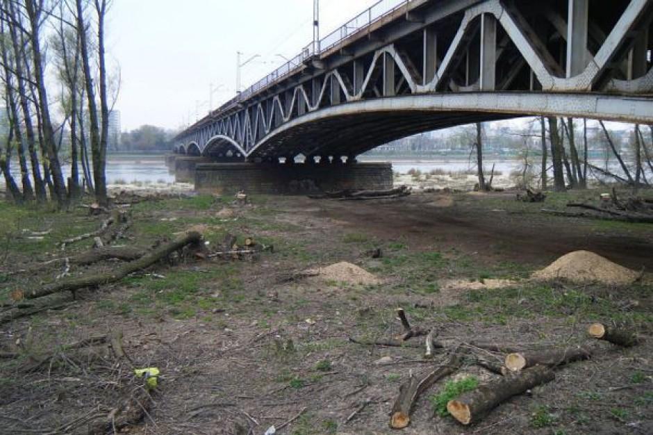 Zamknięta część mostu średnicowego w Warszawie