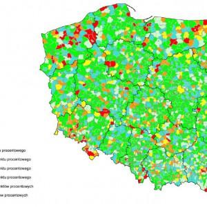 Spełnienie ustawowej relacji z art. 243 na 2014 r. przez gminy i miasta na prawach powiatu.