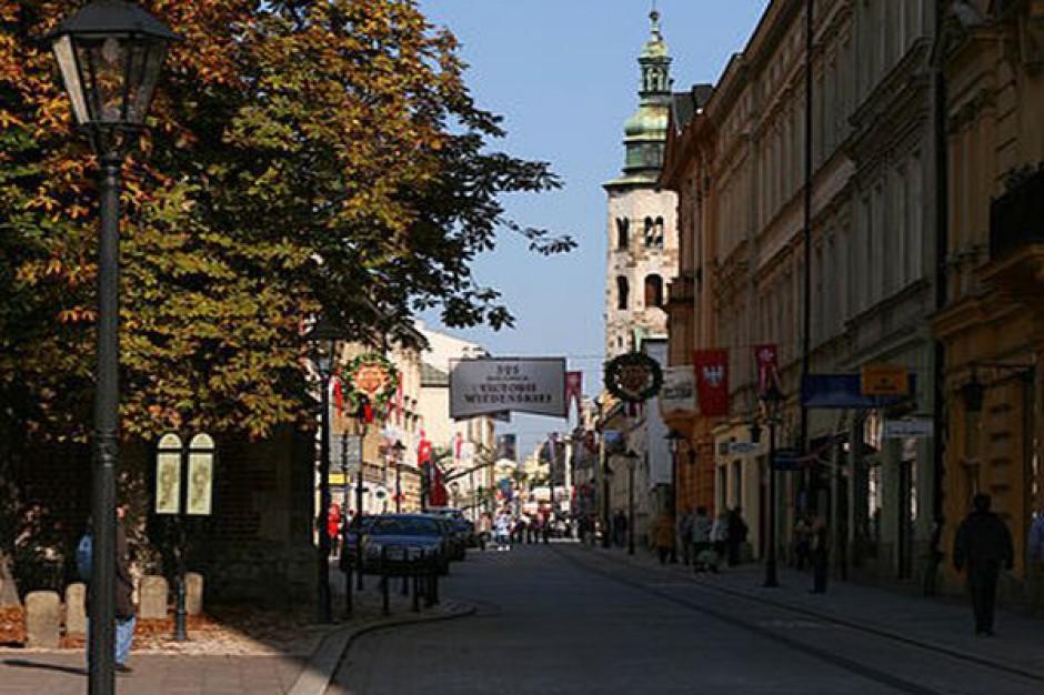 Przejazd centrum Krakowa bardziej czasochłonny rano