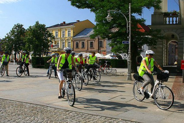 Kieleccy urzędnicy na rowerach