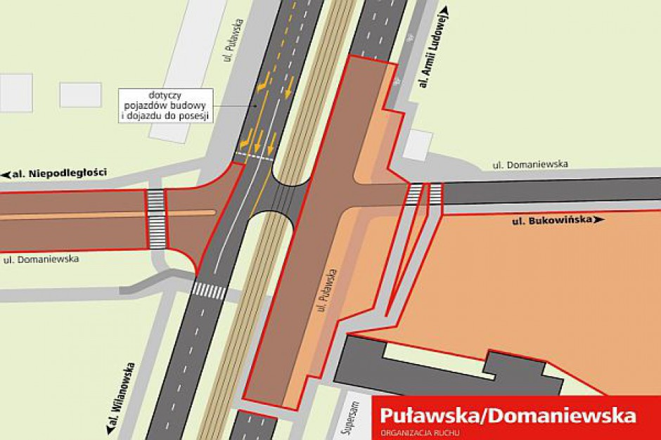 Nieco trudniej na ul. Puławskiej w Warszawie