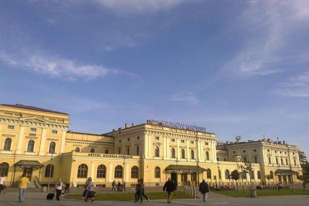 Dworzec Kraków Główny na przełomie roku