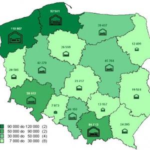 Miejsca noclegowe w turystycznych obiektach noclegowych w 2012 r. – stan w dniu 31 lipca.