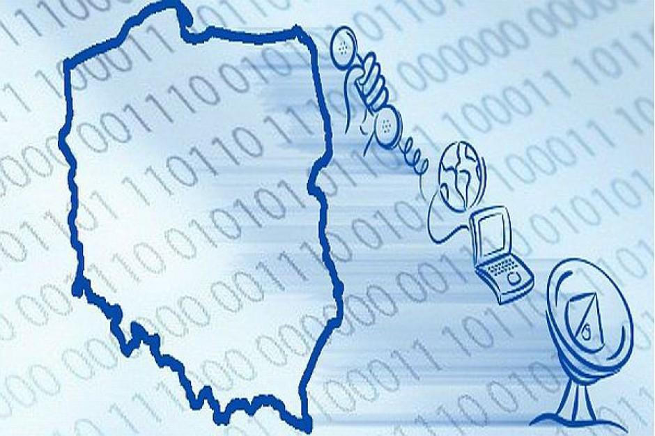 Jest mapa telekomunikacyjna Polski