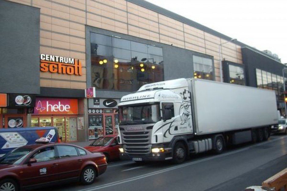 Tiry blokują ulice Częstochowy