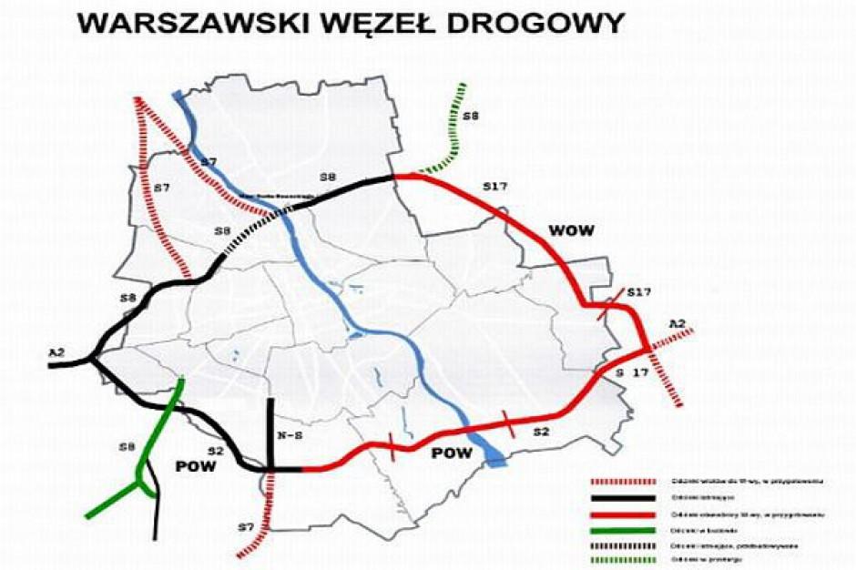 Polityczna przepychanka z obwodnicą Warszawy