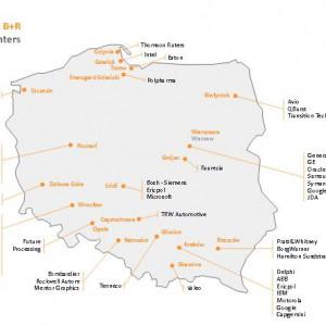 Rozmieszczenie ośrodków B+R w Polsce