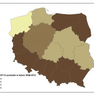 Zróżnicowanie regionalne powstawania zespołów szkół