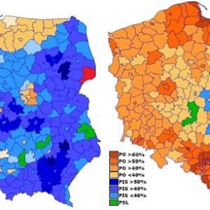 Porównanie wyborów w 2009 i 2014 roku (Fot. Robert Wielgórski/CC BY-SA 3.0)