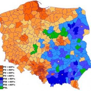 Wyniki wyborów w 2009 roku (Fot. Robert Wielgórski/CC BY-SA 3.0)