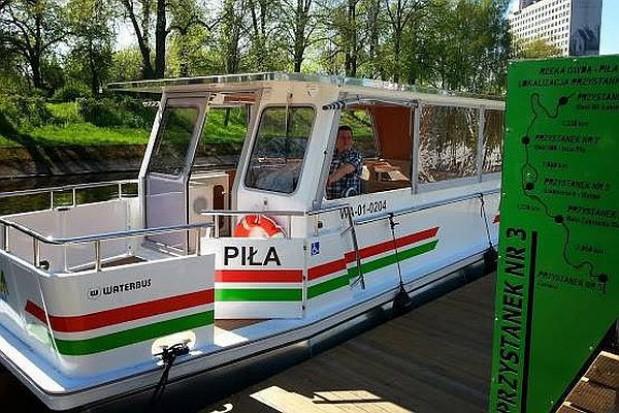 Pierwszy tramwaj wodny w Pile