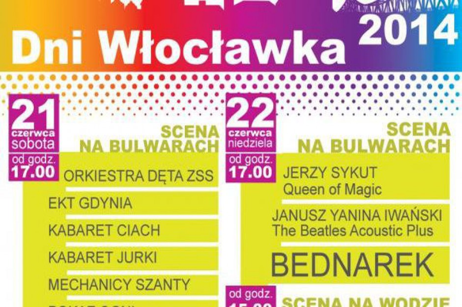 W Kielcach Kombii, weWłocławku Bednarek, wWieluniu T.Love. Kto gra naświętach miast