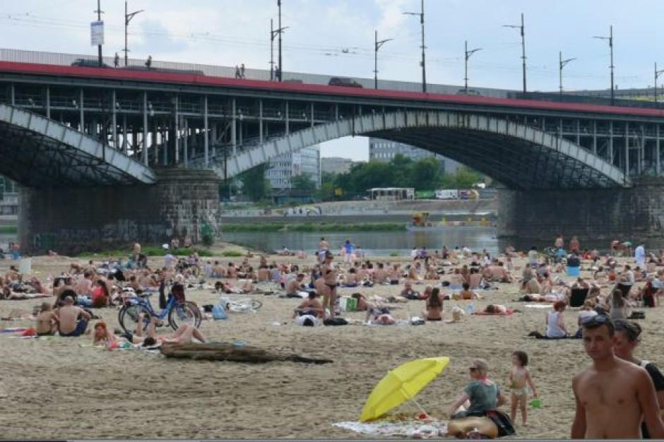 Warszawa plażuje nad Wisłą