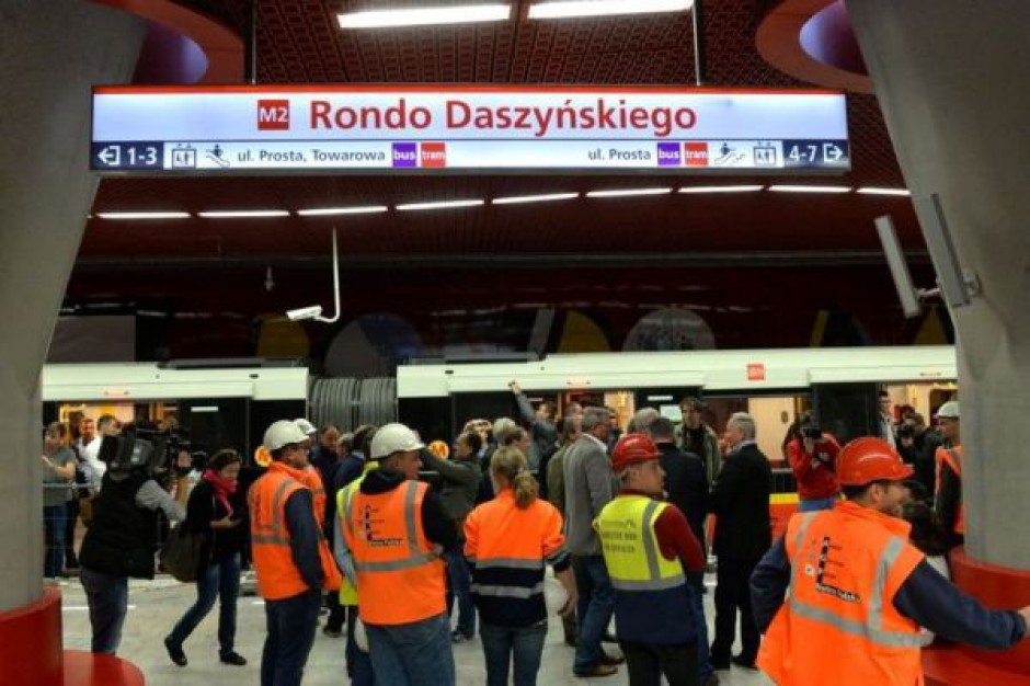 Zobacz jak wygląda II linia metra w Warszawie (zdjęcia)