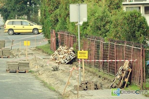 Jesienne remonty ulic i chodników w Krośnie
