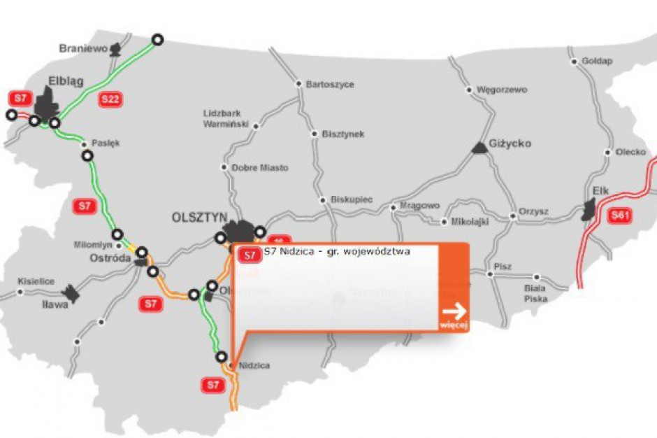 Wybrano wykonawcę odcinków drogi ekspresowej S7 Nidzica - Napierki