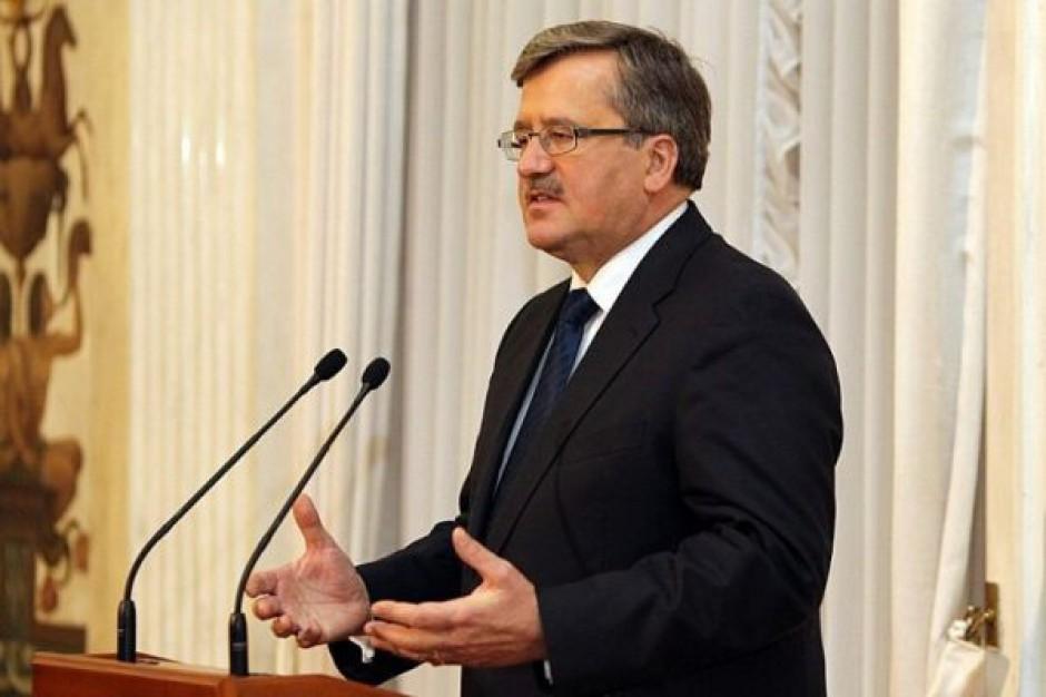 Prezydent Komorowski apeluje o udział w głosowaniu