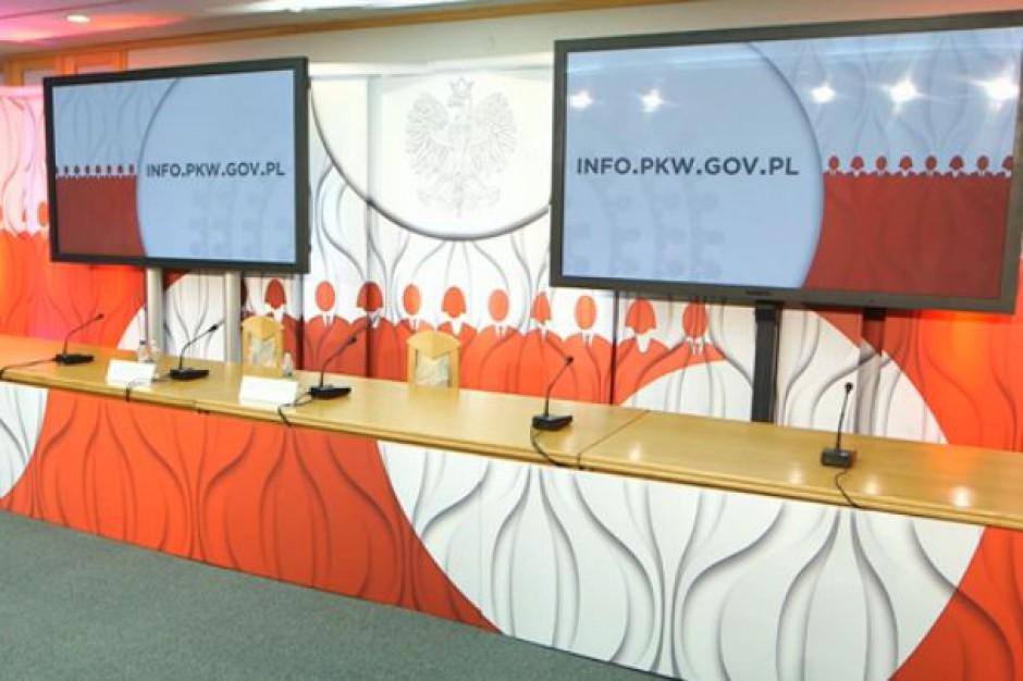 Ręcznie sporządzany protokół, dane na pendrive - PKW zabezpiecza się przed II turą