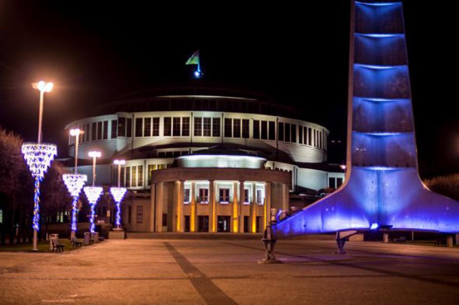 Wrocławska Hala Stulecia zostanie rozświetlona iluminacją świetlną