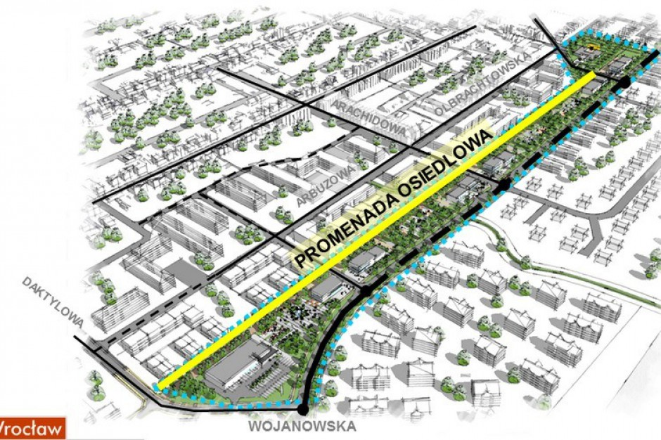 Wrocław ma plan budowy promenady. Osiedlowej.