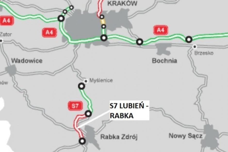 Wielu chętnych na budowę drogi S7 Lubień - Rabka