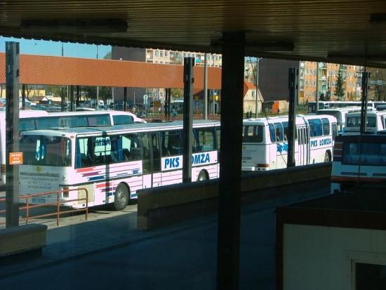 Strajk w PKS Łomża: Autobusy w Łomży, Grajewie i Kolnie nie wyjechały z zajezdni
