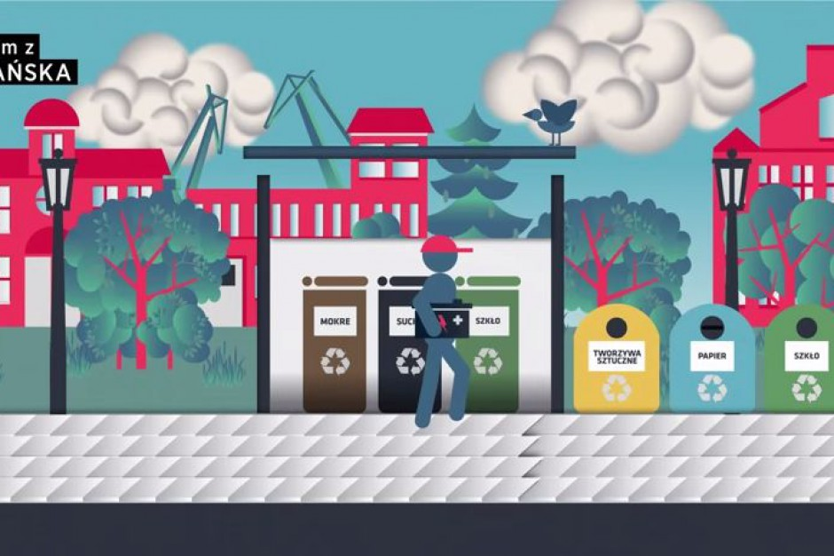Animowany spot przypomina o śmieciowych obowiązkach w Gdańsku