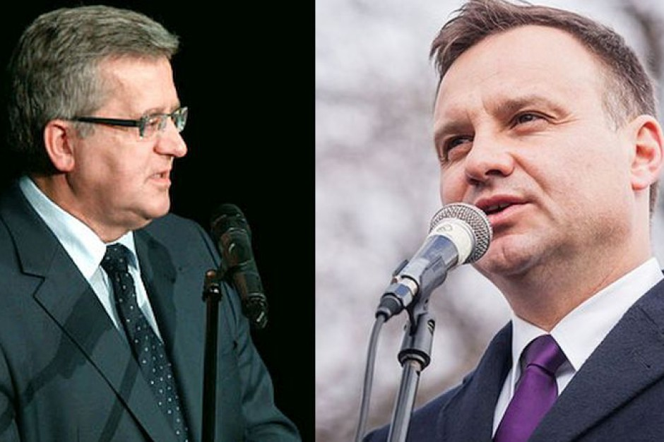 Wybory prezydenckie 2015, II tura: Komorowski i Duda nadwa prezydenckie głosy
