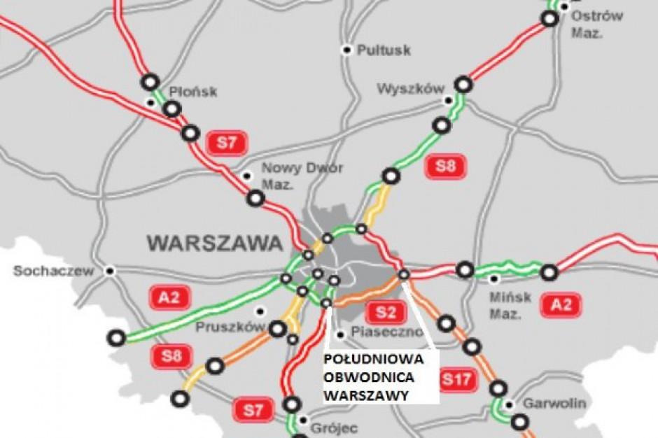 Wybrano wykonawców Południowej Obwodnicy Warszawy