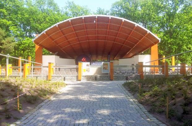 Problemy z amfiteatrem w Parku Zdrojowym w Konstancinie