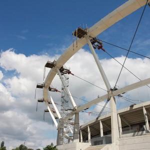 Prace nad zadaszeniem Stadionu Śląskiego mają zakończyć się w listopadzie (fot.PTWP)