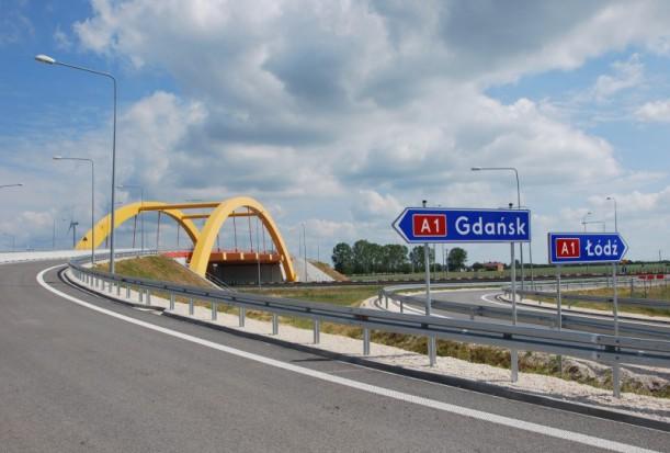 Węzeł Kutno-Wschód na A1 już przejezdny