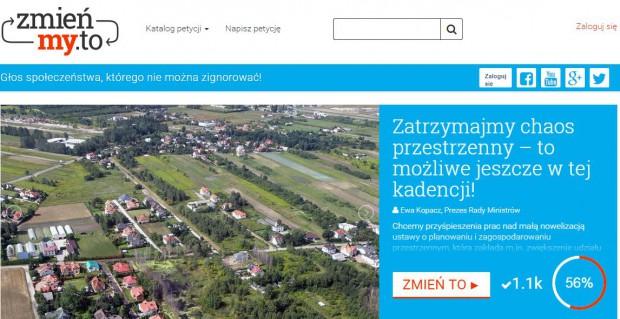 Petycja do premier Kopacz ws. nowelizacji ustawy o planowaniu przestrzennym