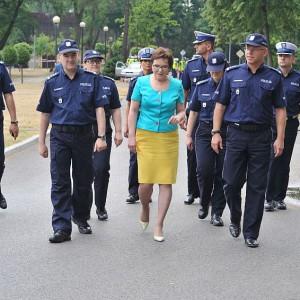 Ewa Kopacz złożyła wizytę w Centrum Szkolenia Policji w Legionowie (fot.csp.edu.pl)