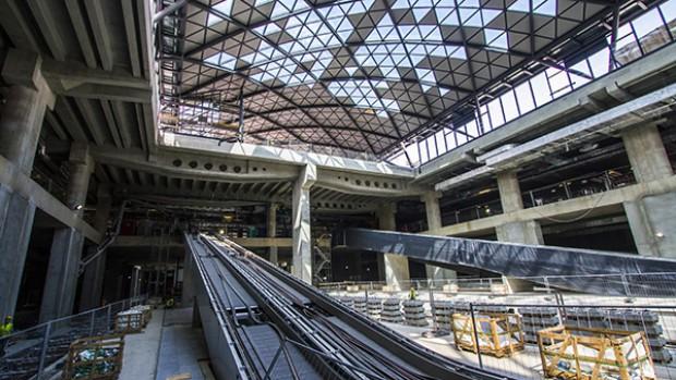 Dworzec Łódź Fabryczna ukończony jest w 80 procentach