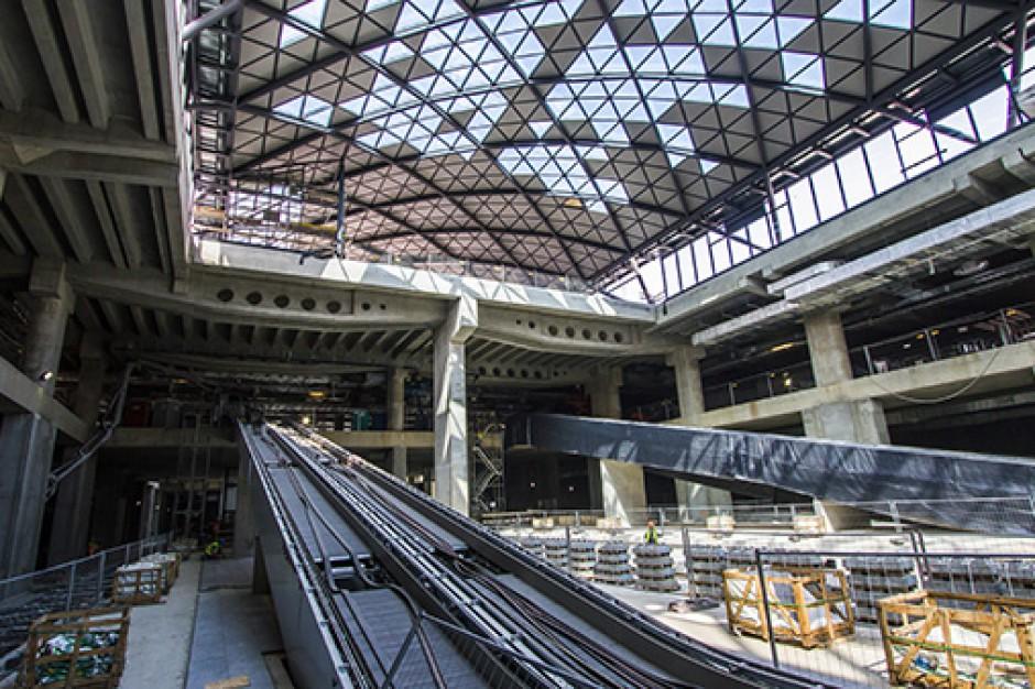 Budowa dworca Łódź Fabryczna zaawansowana w 80 procentach