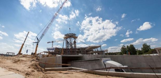 Podkarpacie, Centrum Wystawienniczo-Kongresowe: zamontowano zwornik kopuły