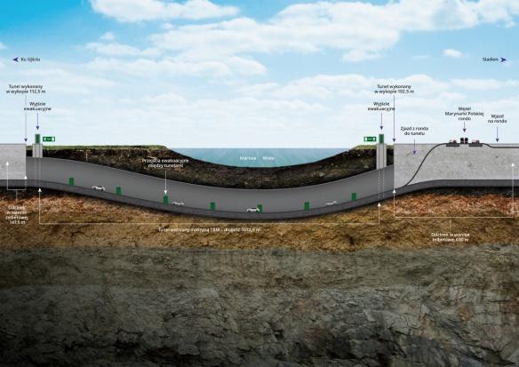 W kwietniu 2016 r. pojedziemy gdańskim tunelem pod Martwą Wisłą