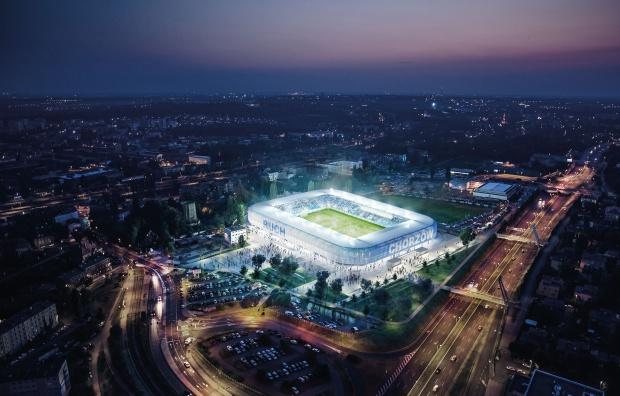 Wizualizacja stadionu Ruchu - fot.mat.prasowe