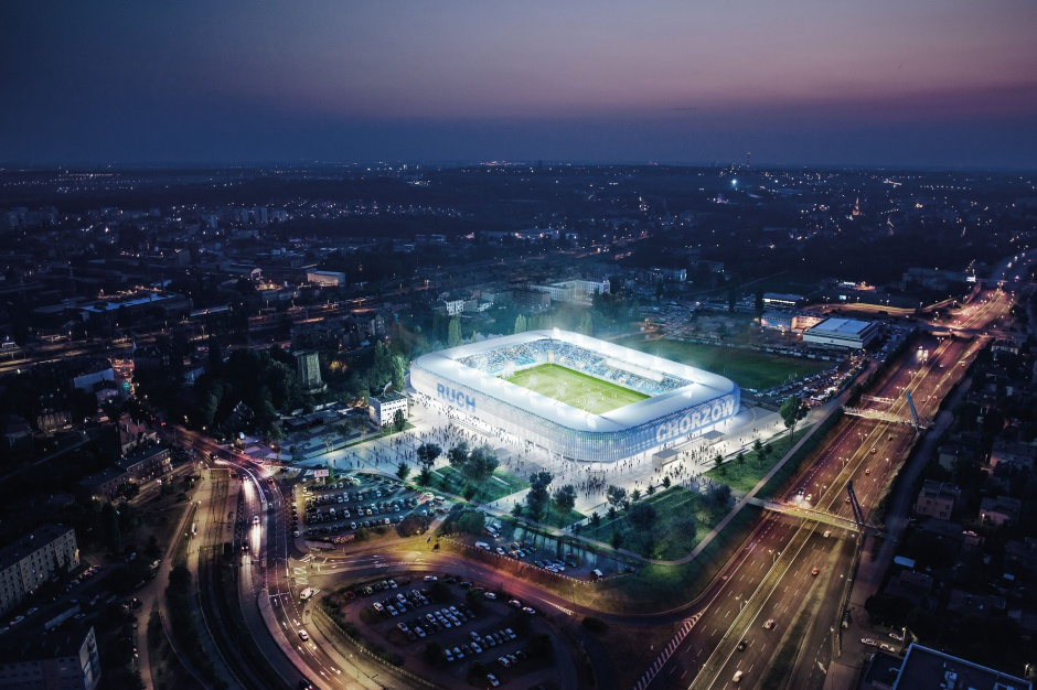 Tak będzie wyglądał stadion Ruchu Chorzów (wizualizacja)