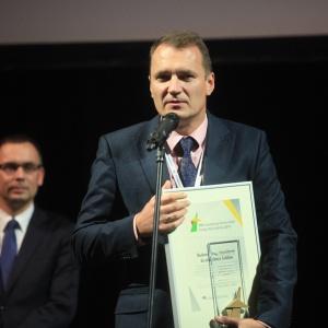 Artur Szymczyk – zastępca prezydenta Miasta Lublina ds. Inwestycji i Rozwoju, dziękował za przyznanie miastu nagrody.