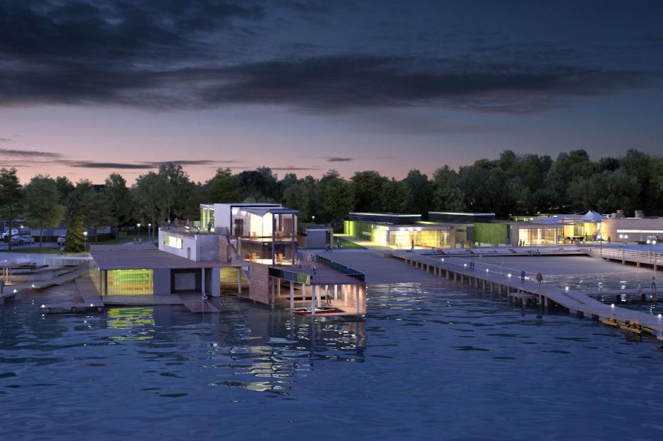 Otwarto centrum żeglarskie nad jeziorem Ukiel w Olsztynie