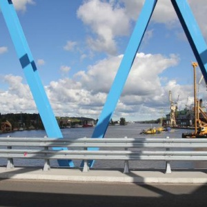 Most będzie służyć także Stoczni Remontowej Gryfia i pozostałym kilkunastu hektarom terenów inwestycyjnych. Fot. Mat. prasowe